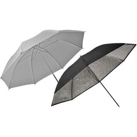 Elinchrom 85cm Silver and Translucent Umbrella Set EL26062 Image 1