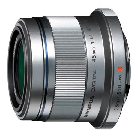Olympus M.Zuiko Digital 45mm f/1.8 Lens - Silver Image 1