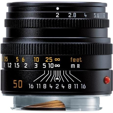 Leica 50mm f/2 Summicron-M Black Lens Image 1