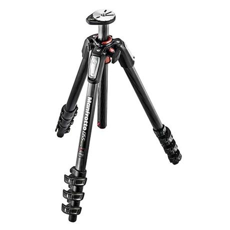 The new 055 carbon fibre 4-section tripod delivers maximum rigidity from the lightest components;