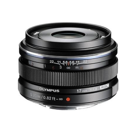 Olympus M.Zuiko Digital 17mm f/1.8 Lens - Black Image 1