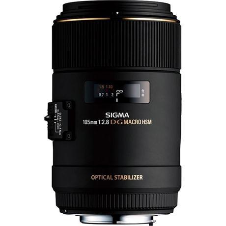 Sigma 105mm f/2.8 EX DG OS HSM Macro Lens - Canon Fit Image 1