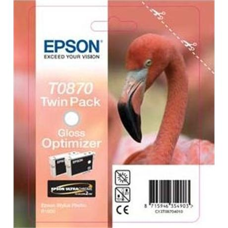 Epson T0870 Gloss Optimizer Twin Pack Ink for R1900 Image 1