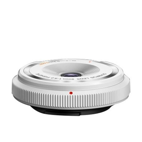 Olympus 9mm f8 Fisheye Body Cap Lens - White Image 1