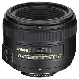 Nikon AF-S NIKKOR 50mm f/1.4G DSLR Camera Lens thumbnail