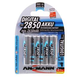 Ansmann AA 2850mAh NiMH Digital batteries (4 pack) thumbnail