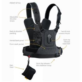 Cotton Carrier Camera Harness G3 Charcoal Grey (1 Camera)
