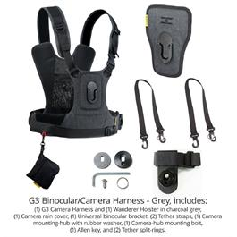 Cotton Carrier Camera Harness System G3 Charcoal Grey (1 Camera and Binoculars)