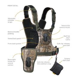 Cotton Carrier Camera Harness System G3 Realtree Xtra (1 Camera and Binoculars)