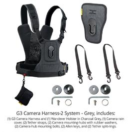 Cotton Carrier Camera Harness System G3 Charcoal Grey (2 Cameras)