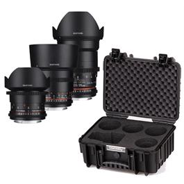 Samyang VDSLR Cine Lens Kit 2 - 14/35/85mm - Canon Fit thumbnail