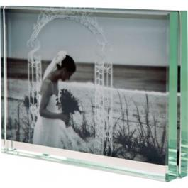 "Swains 6 x 4"" (15 x 10cm) Heavy Level Glass Photo Frame - Horizontal thumbnail"