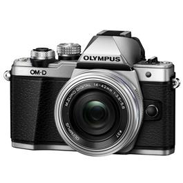 Olympus OM-D E-M10 Mark II Camera With 14-42mm EZ Lens Kit - Silver thumbnail