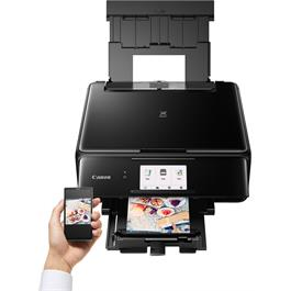Canon Pixma TS8150 Printer - Black - Refurbished Thumbnail Image 4