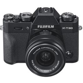 Fujifilm X-T30 Mirrorless Camera with XC 15-45mm OIS Lens Kit - Black Thumbnail Image 4