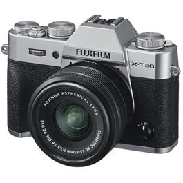 Fujifilm X-T30 Mirrorless Camera with XC 15-45mm OIS Lens Kit - Silver thumbnail