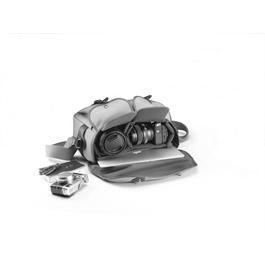 Billingham Hadley One Shoulder Bag - Black Canvas/Tan