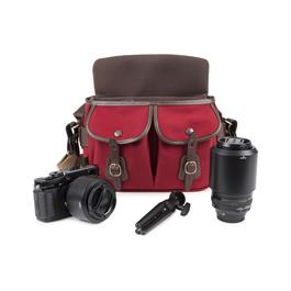 Billingham Hadley Small Pro Shoulder Bag - Burgundy Canvas/Chocolate