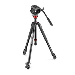 Manfrotto 190 X 3 Section Aluminium Tripod with 500 Fluid Head and Levelling Col thumbnail