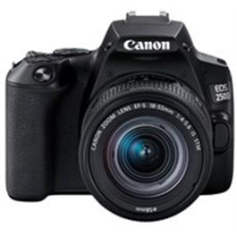 Canon EOS 250D Body With EF-S 18-55mm f/4-5.6 IS STM Lens Kit - Black Thumbnail Image 1