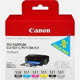 Canon PGI-550/CLI-551 PGBK/C/M/Y/BK/GY 6 thumbnail