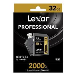 Lexar 32GB UHS2 RDR SDHC 2000x + Reader Thumbnail Image 1