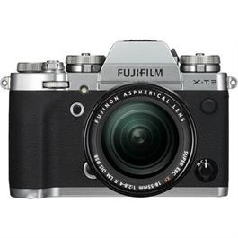 Fujifilm Fuji X-T3 18-55mm Silver Camera kit with 55-200mm lens thumbnail