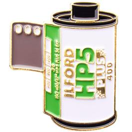 Official Exclusive Ilford HP-5 Plus 400 35mm Film Cannister Pin Badge thumbnail