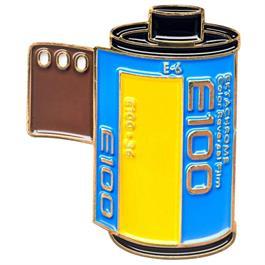 Official Exclusive Kodak Ektachrome 100 35mm Modern Film Cannister Pin Badge thumbnail