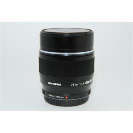 Used Olympus 75mm f/1.8 Lens Black Thumbnail Image 0