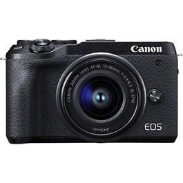Canon EOS M6 Mk II Mirrorless Camera With 15-45mm Lens Kit - Black thumbnail