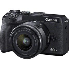 Canon EOS M6 Mk II Mirrorless Camera With 15-45mm Lens Kit - Black Thumbnail Image 1