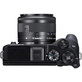 Canon EOS M6 Mk II Mirrorless Camera With 15-45mm Lens Kit - Black Thumbnail Image 4