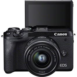 Canon EOS M6 Mk II Mirrorless Camera With 15-45mm Lens Kit - Black Thumbnail Image 5