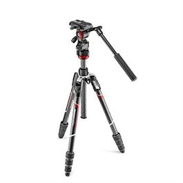 Manfrotto MVKBFRTC-LIVE 4 Section BeFree Carbon fibre Tripod with MVH400AH Fluid thumbnail
