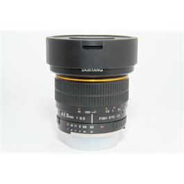 Used Samyang 8mm f/3.5 Fisheye Lens Nikon Fit   thumbnail