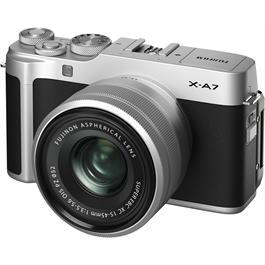 Fujifilm X-A7 Camera With Fujinon XC 15-45mm OIS PZ Lens Kit - Silver Thumbnail Image 3