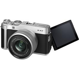 Fujifilm X-A7 Camera With Fujinon XC 15-45mm OIS PZ Lens Kit - Silver Thumbnail Image 6