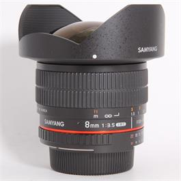 Used Samyang 8mm f/3.5 UMC Fisheye CS II - Nikon Boxed thumbnail