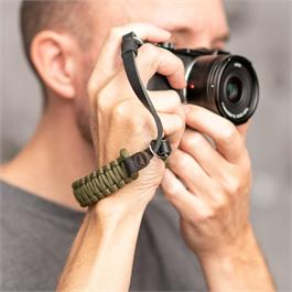 Leica Paracord Handstrap Black/Olive by COOPH
