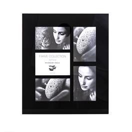 "Kenro Black Glass 6x4"" 5 Aperture Frame thumbnail"