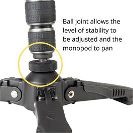 Vanguard Carbon Monopod with 26mm Legs Tri-stand
