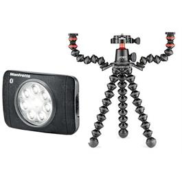 Manfrotto Vlogging kit Gorillpoad 3k rig with Lumimuse 8 LED light Thumbnail Image 0