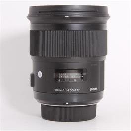 Used Sigma 50mm f/1.4 Art - Nikon thumbnail