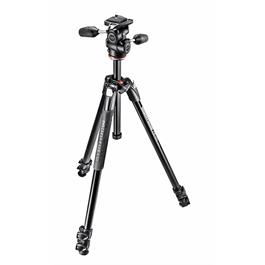 Manfrotto 290 Dual Aluminium Tripod and 3-Way Head Kit thumbnail