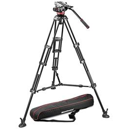 Manfrotto 546B Aluminium Twin Leg Tripod and 502 Fluid Head Kit thumbnail