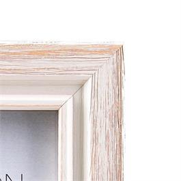 Emilia Distressed White Frame 8x12