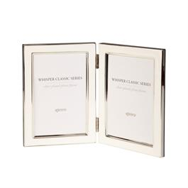"Kenro Whisper Classic Frame White Twin 6x4"" thumbnail"