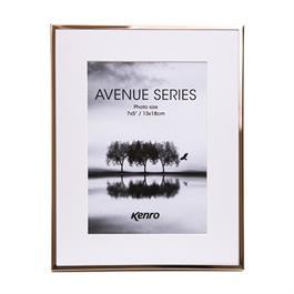 "Kenro Avenue Frame 9x7"" Mat 7x5"" Rose Gold thumbnail"