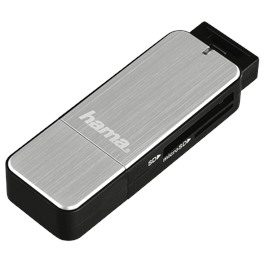 Hama USB 3.0 Card Reader SD/microSD - Silver thumbnail